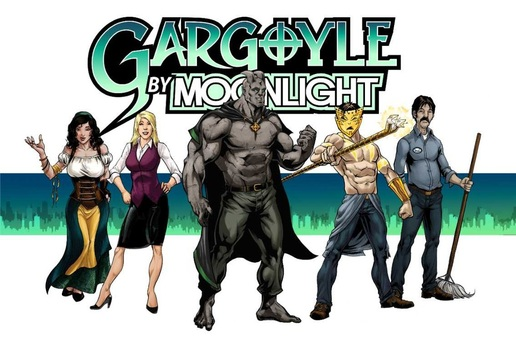 Cast of Gargoyle By Moonlight from Moonrise Comics.